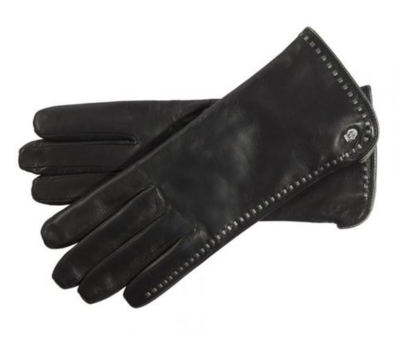 Bild von Handschuhe Roeckl Damen Klassiker Lederdurchzüge black/silver