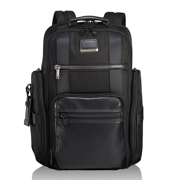 TUMI, Alpha Bravo, Sheppard Deluxe Backpack, Brief Pack®, black